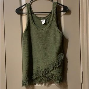 Anthropologie Sleeveless Fringe Sweater Tank